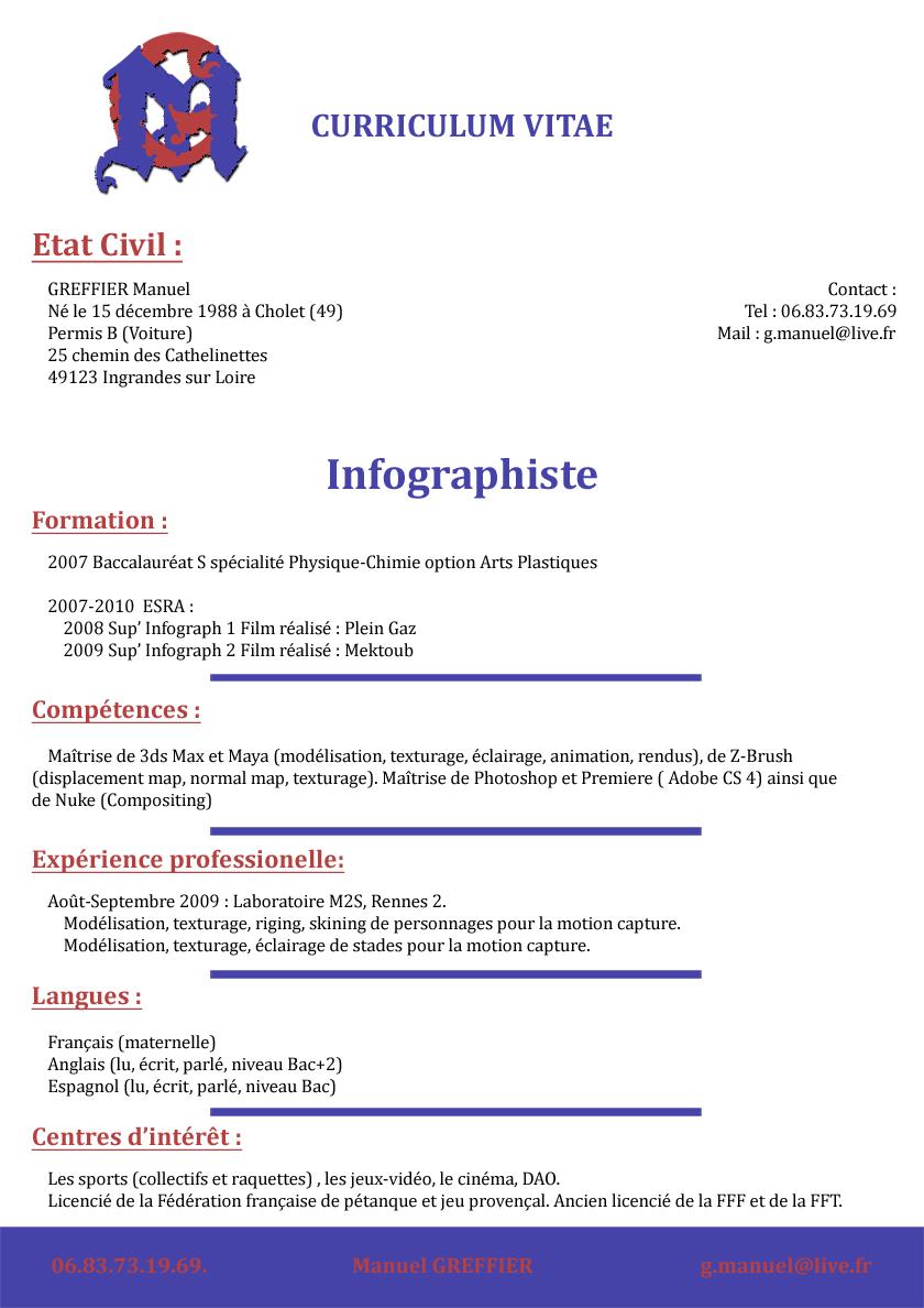 Curriculum Vitae Manuel Greffier